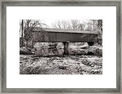 Frankenfield Bridge Over The Tinicum Creek Framed Print by Olivier Le Queinec