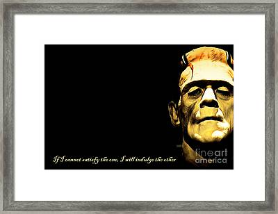 Frankenstein 20140921brunaille Horizontal With Text V2 Framed Print by Wingsdomain Art and Photography