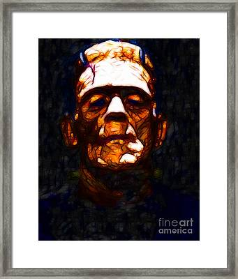 Frankenstein - Abstract Framed Print by Wingsdomain Art and Photography