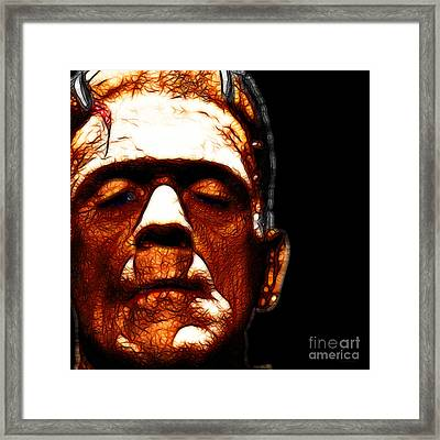 Frankenstein Black Square Framed Print