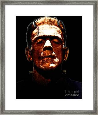 Frankenstein - Black Framed Print by Wingsdomain Art and Photography