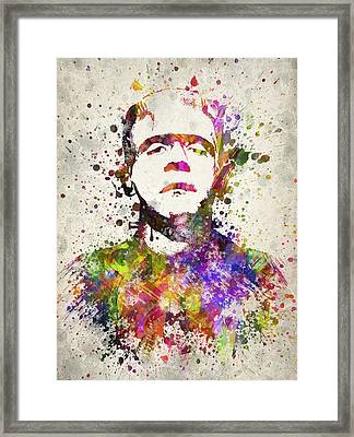 Frankenstein - Boris Karloff Framed Print by Aged Pixel