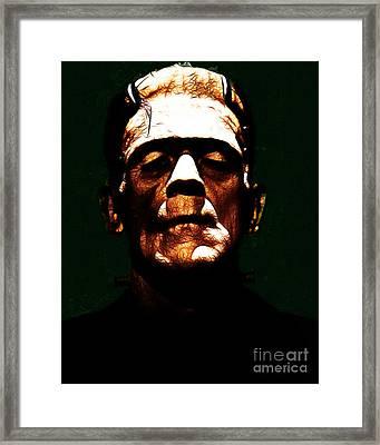 Frankenstein - Dark Framed Print by Wingsdomain Art and Photography