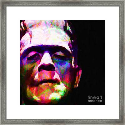 Frankenstein Fractal Square Framed Print by Wingsdomain Art and Photography