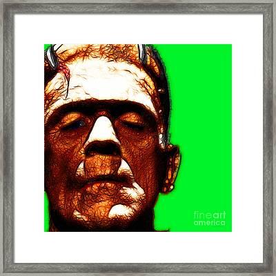 Frankenstein Green Square Framed Print