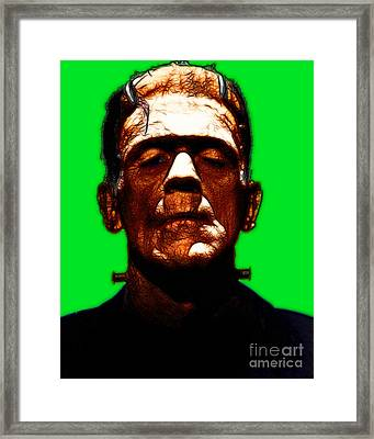 Frankenstein - Green Framed Print by Wingsdomain Art and Photography