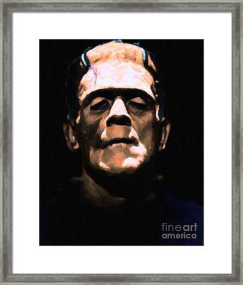Frankenstein - Painterly - Black Framed Print by Wingsdomain Art and Photography