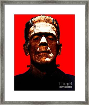 Frankenstein - Red Framed Print by Wingsdomain Art and Photography