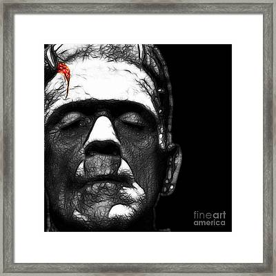Frankenstein Square Black And White Framed Print by Wingsdomain Art and Photography