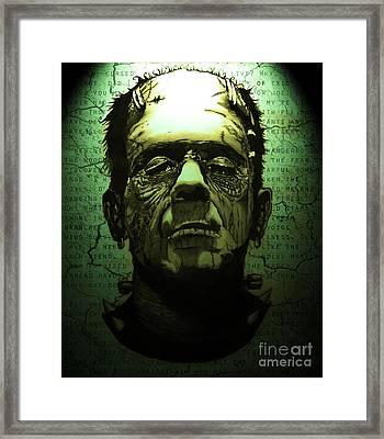 Frankenstein's Monster Dark Variant Framed Print