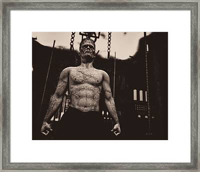 Frankenstein's Science Framed Print by Bob Orsillo
