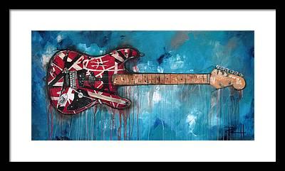 Rock Van Halen Framed Prints