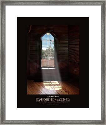 Frankford Church - Let The Sun Shine In Poster W Windmill Framed Print by Robert J Sadler