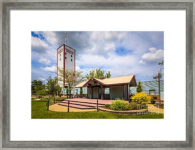 Frankfort Station And Frankfort Grainery Framed Print