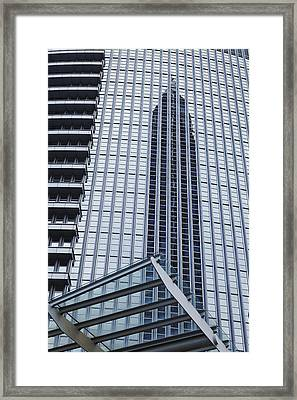 Frankfurt - Exhibition Tower Is Mirroring In A Glass Fassade Framed Print by Olaf Schulz