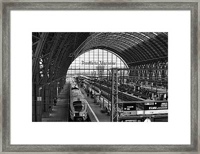 Frankfurt Bahnhof - Train Station Framed Print