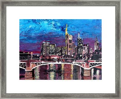 Frankfurt Main Germany - Mainhattan Skyline Framed Print by M Bleichner