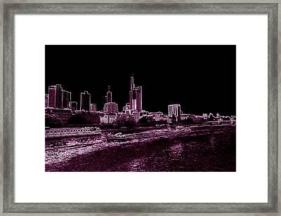 Frankfurt Purple Framed Print by Adam  S