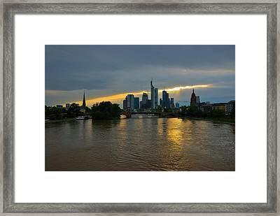 Frankfurt Sunset Framed Print by Steven Richman