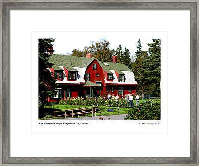 Franklin D. Roosevelt Cottage Campobello Nb Framed Print