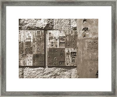 Franklin Delano Roosevelt Memorial - Bits And Pieces 2 Framed Print by Mike McGlothlen