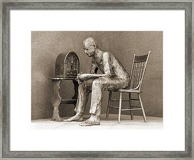 Franklin Delano Roosevelt Memorial - Bits And Pieces 5 Framed Print by Mike McGlothlen