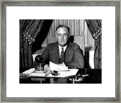 Franklin Delano Roosevelt Framed Print by Unknown