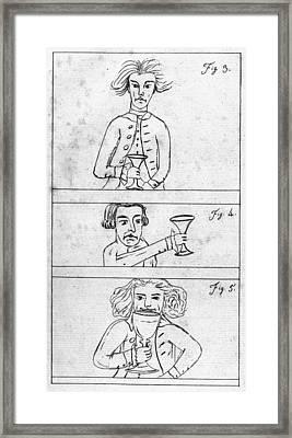 Franklin Drinking Framed Print by Granger