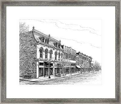 Framed Print featuring the drawing Franklin Main Street by Janet King
