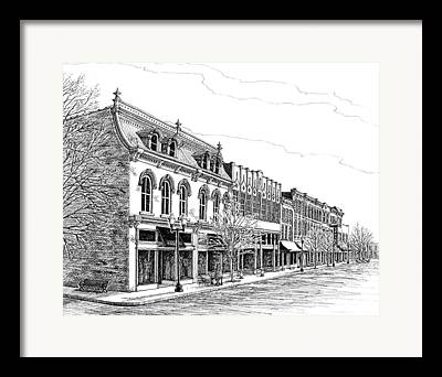 Main Street In Franklin Framed Prints