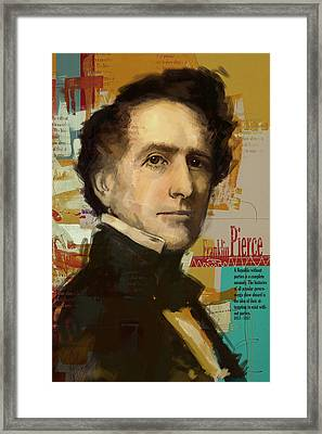 Franklin Pierce Framed Print by Corporate Art Task Force