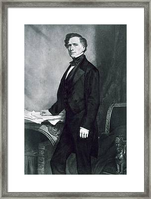 Franklin Pierce Framed Print by George Healy