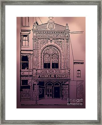Franklin Square Theatre Framed Print by Megan Dirsa-DuBois