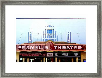 Franklin Theatre Framed Print by Anthony Jones