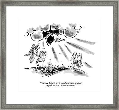 Frankly, I Think We'll Regret Introducing These Framed Print by Lee Lorenz