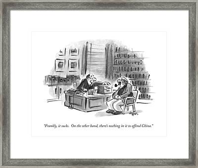 Frankly, It Sucks.  On The Other Hand, There's Framed Print by Lee Lorenz