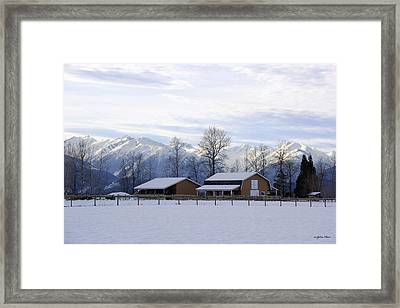 Framed Print featuring the photograph Franks Field by Sylvia Hart