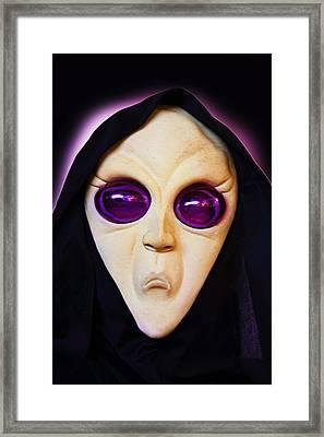 Franks Spooky Face Framed Print