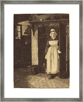 François Bonvin French, 1817 - 1887, The Basement Door La Framed Print by Quint Lox