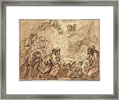 François Boucher, French 1703-1770, The Adoration Framed Print