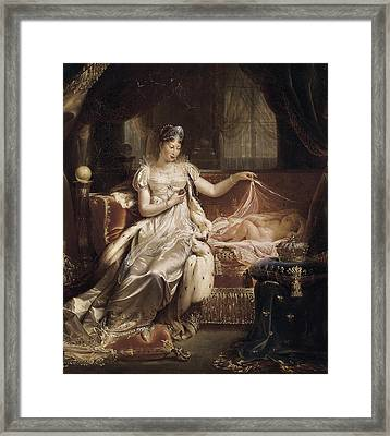 Franque, Joseph 1774-1833. Marie-louise Framed Print by Everett