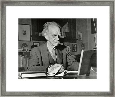 Franz Boas Framed Print by American Philosophical Society