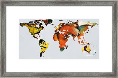 Franz Marc 2  World Map Framed Print
