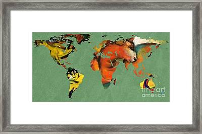 Franz Marc 3  World Map Framed Print