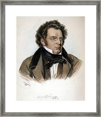 Franz Peter Schubert (1797-1828) Framed Print by Granger