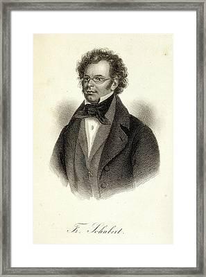 Franz Schubert Framed Print by British Library
