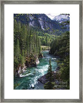 Fraser River - British Columbia Framed Print by Phil Banks