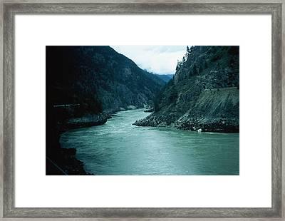 Fraser River Framed Print by Dick Willis