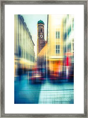 Frauenkirche - Munich V - Vintage Framed Print by Hannes Cmarits