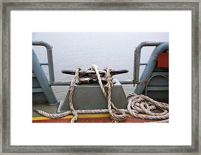 Frayed Mooring Line Framed Print by Jim West